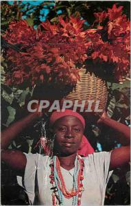Moderne Karte Haiti Young Haitin Flower Vendor