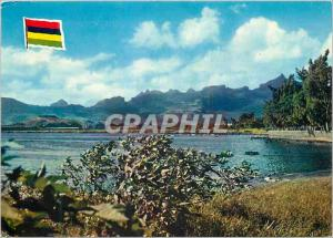 Moderne Karte Ile Maurice Paysage de l'Ile Maurice