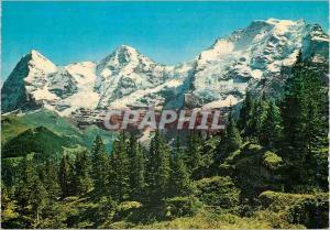 Moderne Karte Berner oberland Schweiz Eiger Monch Jungfrau Oberland Bernois Suisse Eiger Monch Jungfrau Oberla
