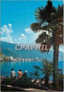 Moderne Karte Montreux Vue generale Gesamtansicht Veduta generale