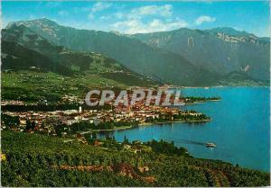 Moderne Karte Vevey Vue generale avee Alpes Vaudoises Gesamtansicht mit Waadtlander Alpen Veduta generale ed a
