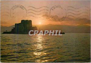 Moderne Karte Nauplie Coucher du soleil a Bourtzi