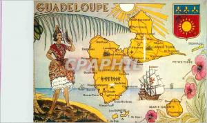 Moderne Karte Guadeloupe Cartes des routes principales