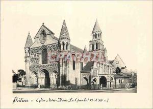 Moderne Karte Poitiers Eglise Notre Dame La Grande xi et xii s
