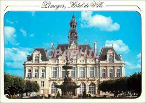 Moderne Karte Limoges Hte Vienne Capitale des arts du fleu Porcelaines emoux L Hotel de ville style renaissanc
