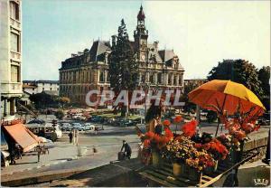 Moderne Karte Limoges Haute Vienne L Hotel de Ville