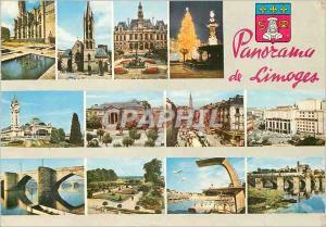 Moderne Karte Limoges Hte Vienne Panorama de Limoges