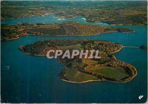 Moderne Karte Vassiviere en Limousin Lac artificiel Retenue d eau Vue generale a aerienne