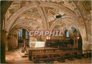 Moderne Karte Assisi Basilica di S Francesco Chiesa Inferiore