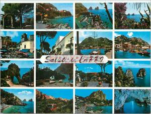 Moderne Karte Capri saluti