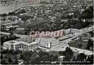 Moderne Karte Geneve Le Nouveau Palais des Nations et vue sur la Ville