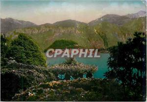 Moderne Karte Lago di Como Villa Carlotta Ballagio visto dalla Villa Carlotta