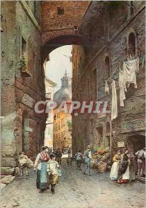 Moderne Karte Roma sparita di e roester franz (1845 1907) via guilio romano museo du roma