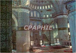 Moderne Karte Istanbul Turkey Interieure de la Mosque bleue
