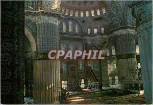 Moderne Karte Istanbul Turkey Interieur de la mosquee bleue