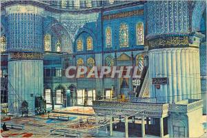 Moderne Karte Istanbul Turkey Inerieure de la mosquee bleue