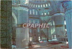 Moderne Karte Istanbul Turkey Interieure de la mosquee bleue