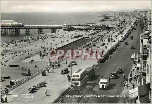 Moderne Karte Sea Front Looking West Brighton & Hove