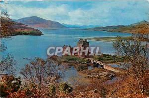 Moderne Karte Eilean Donan Castle Ross & Crom-Arty Scotland