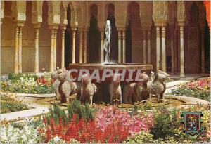 Moderne Karte Granada Cour des Lions