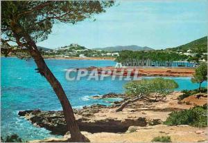 Moderne Karte Santa Eulalia del Rio Ibiza Isla Baleares Vista general