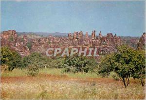 Moderne Karte Haute Volta Sindou Chaine de rochers dite des pelerins