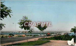 Moderne Karte Africolor Douala Le Pont sur le Wouri Cameroon