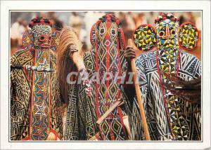 Moderne Karte Cameroun Banjoug Danseurs Bamilekes masques
