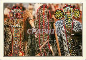 Moderne Karte Cameroun Bandjoun Danseurs Bamilekes masques