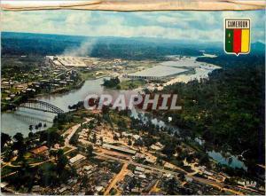 Moderne Karte Republique Federale du Cameroun Edea Vue aerienne