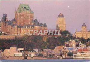 Moderne Karte Quebec Le Chateau Frontenac perche sur le Cap Diamant dominant la Vieille ville et le fleuve St