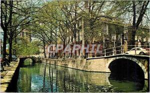 Moderne Karte Delft Oude Delft met Meisjeshuis