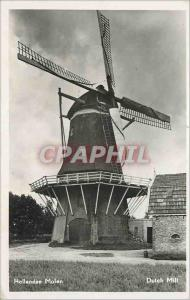 Moderne Karte Hollandse Molen Dutch Mill Moulin a vent