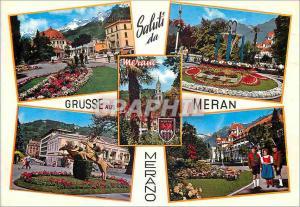 Moderne Karte Saluti Merano