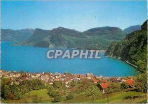 Ansichtskarte AK Hergiswil a See Lopper und Burgenstock