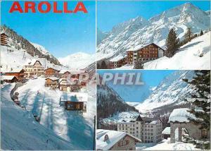 Moderne Karte Arolla station dans le Val d Herens Wallis
