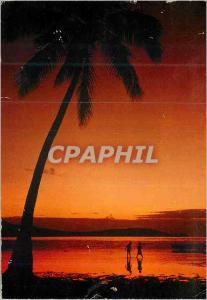 Moderne Karte Sunset Tahiti