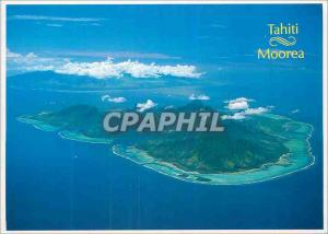 Moderne Karte Tahiti and Moorea islands