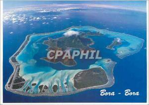 Moderne Karte Airview Bora-Bora