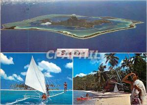 Moderne Karte Bora-Bora Most Beautiful Island on Earth