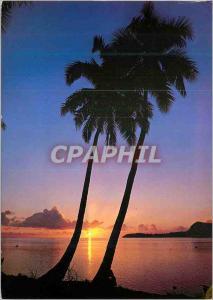 Moderne Karte Crepuscule aux iles Sous-le-Vent