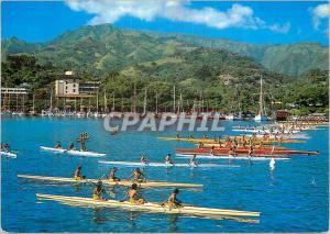 Moderne Karte Course de pirogues Tahiti dans la rade de Papeete