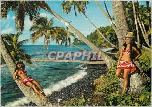 Moderne Karte Joy of living Tahiti