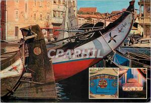 Moderne Karte Paintings on boat Aveiro