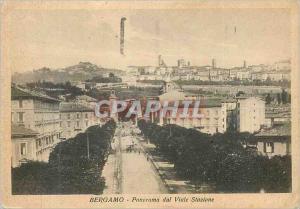 Moderne Karte Bergamo Panorama dal Viale Stazione