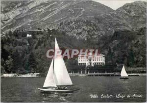 Moderne Karte Lago di Como Villa Carlotta