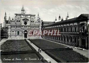 Moderne Karte Certosa di Pavia La Facciata e il Museo