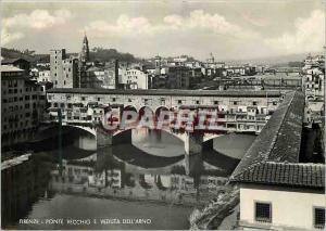 Moderne Karte Firenze Ponte Vecchio Veduta dell'Arno