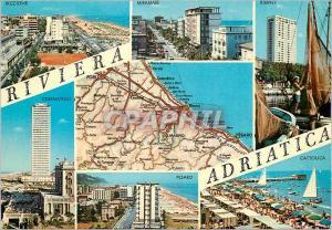 Moderne Karte Italia Riviera Adriatica