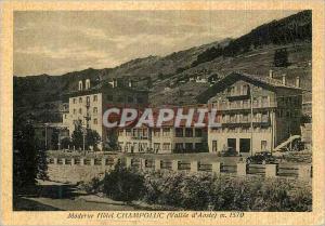 Moderne Karte Moderne Hotel Champoluc Valle d'Aoste